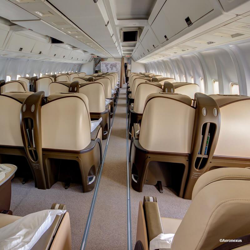 Stylish upholstery ( Aeronexus VIP Boeing 767-300ER