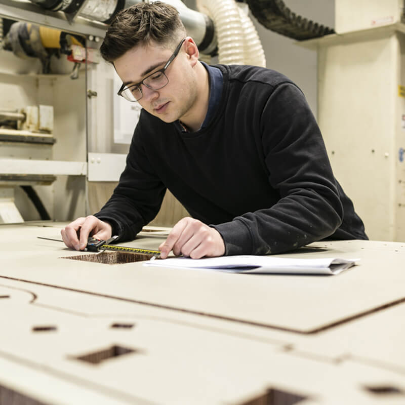 In-house three and five Axis CNC router capabilities