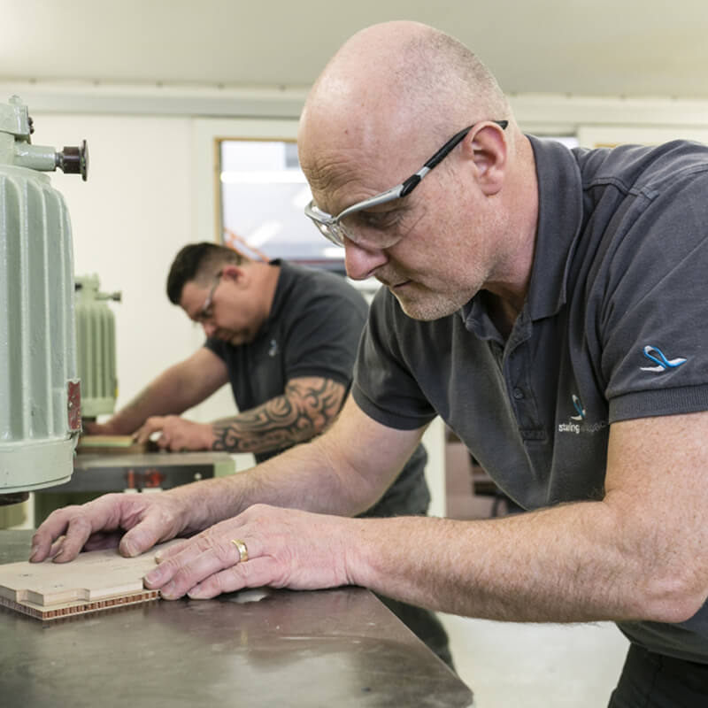 Fully equipped composite workshop