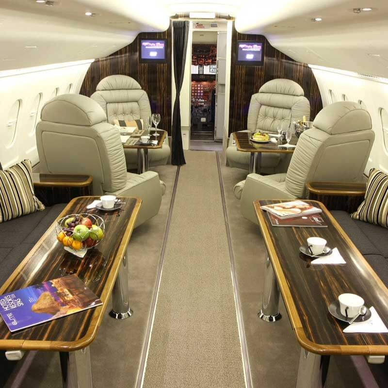 Unique aircraft cabin interiors