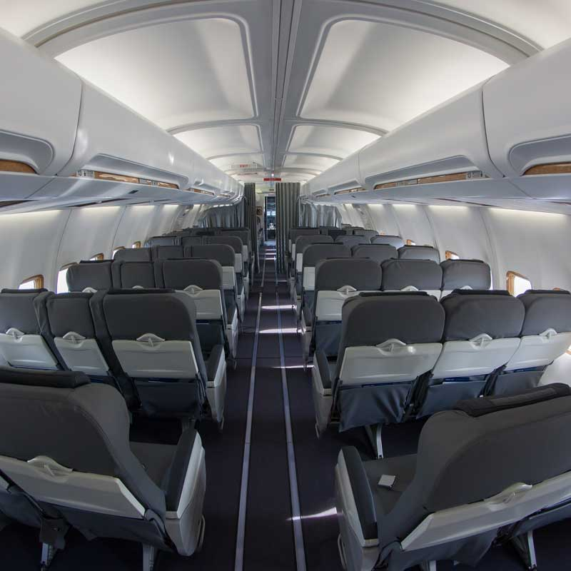 Upgraded aircraft interior