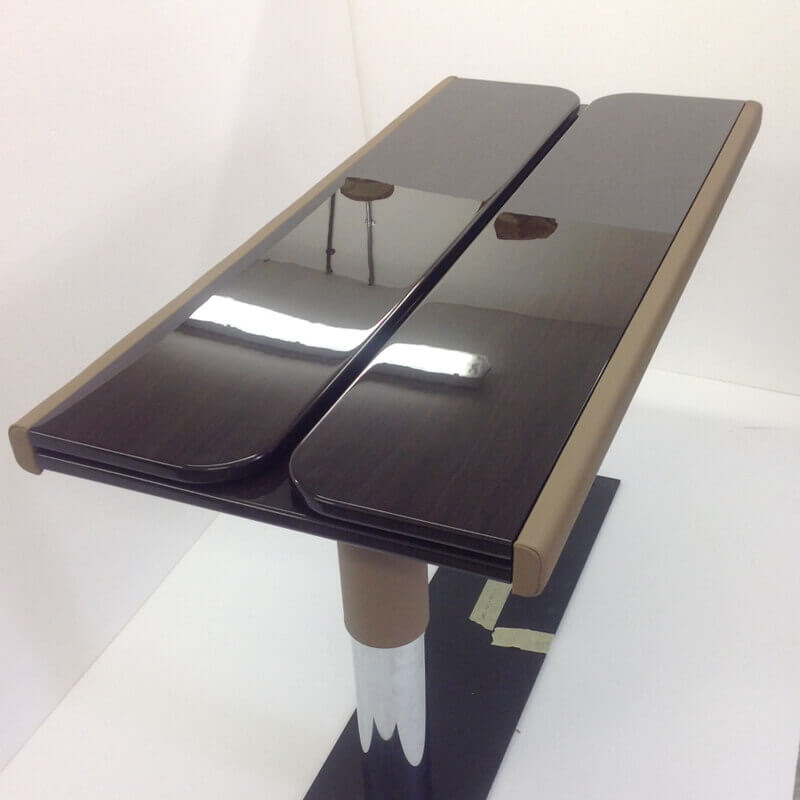 Compact aircraft table solution
